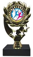 "6-1/4"" Sunburst Modern Dance Insert Sport Wreath Trophy"
