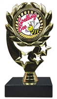 "6-1/4"" Sunburst Spelling Bee Insert Sport Wreath Trophy"