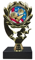 "6-1/4"" USA Cheerleading Insert Sport Wreath Trophy"