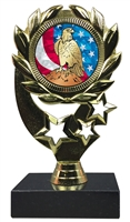 "6-1/4"" USA Eagle Insert Sport Wreath Trophy"