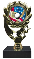 "6-1/4"" USA Golf Insert Sport Wreath Trophy"