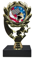 "6-1/4"" USA Racing Insert Sport Wreath Trophy"