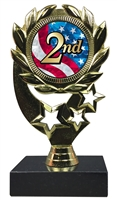 "6-1/4"" USA 2nd Place Insert Sport Wreath Trophy"