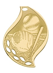 "2-1/4"" Flame Series Baseball Medal FM101"