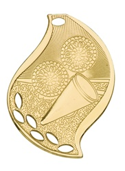 "2-1/4"" Flame Series Cheerleading Medal FM104"