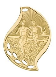 "2-1/4"" Flame Series Cross Country Medal FM105"