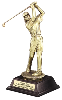 "10"" Female Golf Swing Trophy"