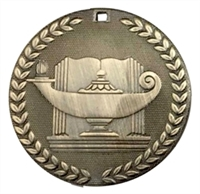 "2"" G9 Lamp of Knowledge Medal G9M09"