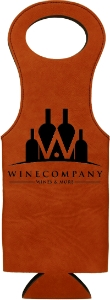 Personalized Rawhide Wine Bag