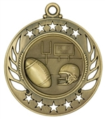 "2-1/4"" Galaxy Football Medal GM104"