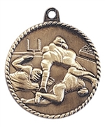 "2"" Football Medal HR720"