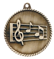 "2"" Music Medal HR785"