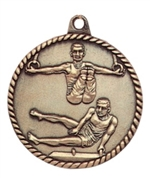 "2"" Male Gymnastics Medal HR795"
