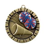 "2"" Raised Rubber Detail Cheer Medal IM226"