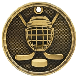 "2"" 3D Hockey Medal"