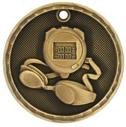 "2"" 3D Swimming Medal"