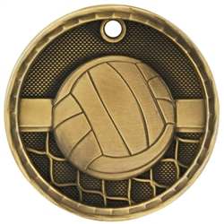 "2"" 3D Volleyball Medal"