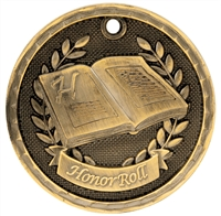 "2"" 3D Honor Roll Medal"
