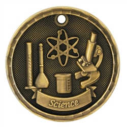 "2"" 3D Science Medal"