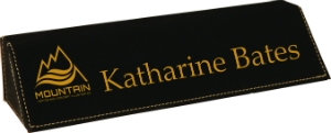 Personalized Desk Wedge Black