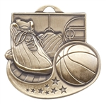 "2"" Star Blast Basketball Medal M1003"