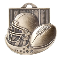 "2"" Star Blast Football Medal M1006"