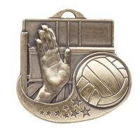 "2"" Star Blast Volleyball Medal M1017"