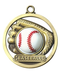 "2"" Raised Rubber Baseball Medal M402"