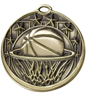 "2"" Star Basketball Medal M703"