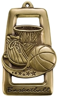 "2-3/4"" Star Blast Basketball Medal M903"