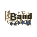 "1-1/4"" 5-Star Music - Band Pin MA10"