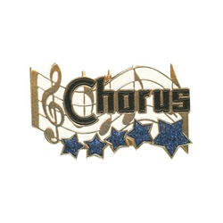 "1-1/4"" 5-Star Music - Chorus Pin MA12"