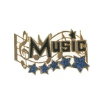"1-1/4"" 5-Star Music Pin MA13"