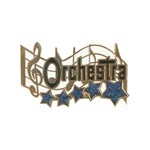 "1-1/4"" 5-Star Music - Orchestra Pin MA14"
