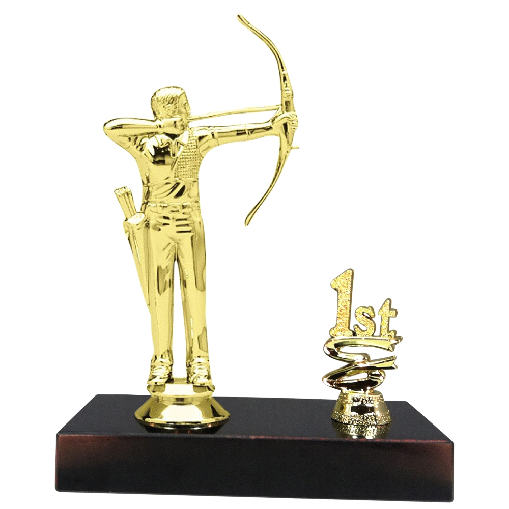 1st 2nd 3rd Place Male Archery Trophy