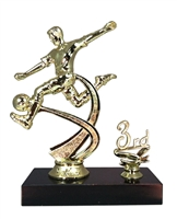 "1st - 5th Place 6"" Male Soccer Figure Trophy"