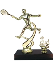 "1st - 5th Place 6"" Male Tennis Figure Trophy"