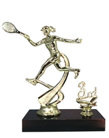 "1st - 5th Place 6"" Female Tennis Figure Trophy"