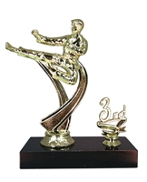 "1st - 5th Place 6"" Male Karate Figure Trophy"
