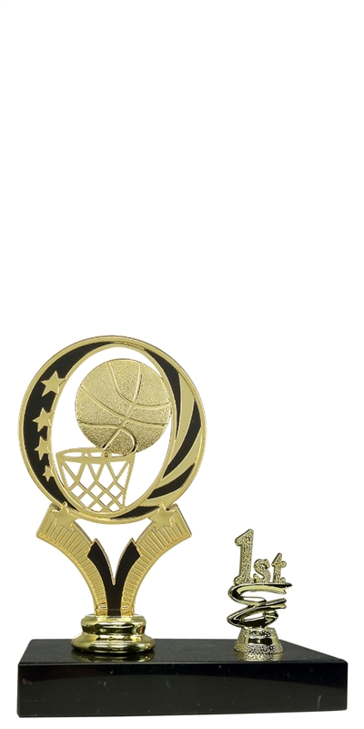 1st 2nd 3rd Place Midnite Basketball Trophy Marble Base