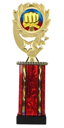 Moonbeam Wreath Martial Arts Epoxy Dome Trophy in 11 Colors - in 3 Sizes