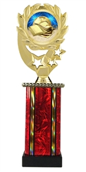 Moonbeam Wreath Scholastic Epoxy Dome Trophy in 11 Colors - in 3 Sizes
