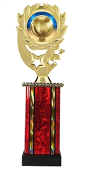 Moonbeam Wreath Volleyball Epoxy Dome Trophy in 11 Colors - in 3 Sizes