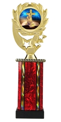 Moonbeam Wreath Religious Epoxy Dome Trophy in 11 Colors - in 3 Sizes