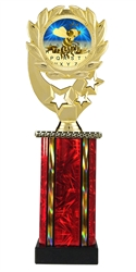 Moonbeam Wreath Spelling Bee Epoxy Dome Trophy in 11 Colors - in 3 Sizes