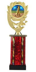Moonbeam Wreath T Ball Epoxy Dome Trophy in 11 Colors - in 3 Sizes