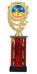 Moonbeam Wreath Wrestling Epoxy Dome Trophy in 11 Colors - in 3 Sizes