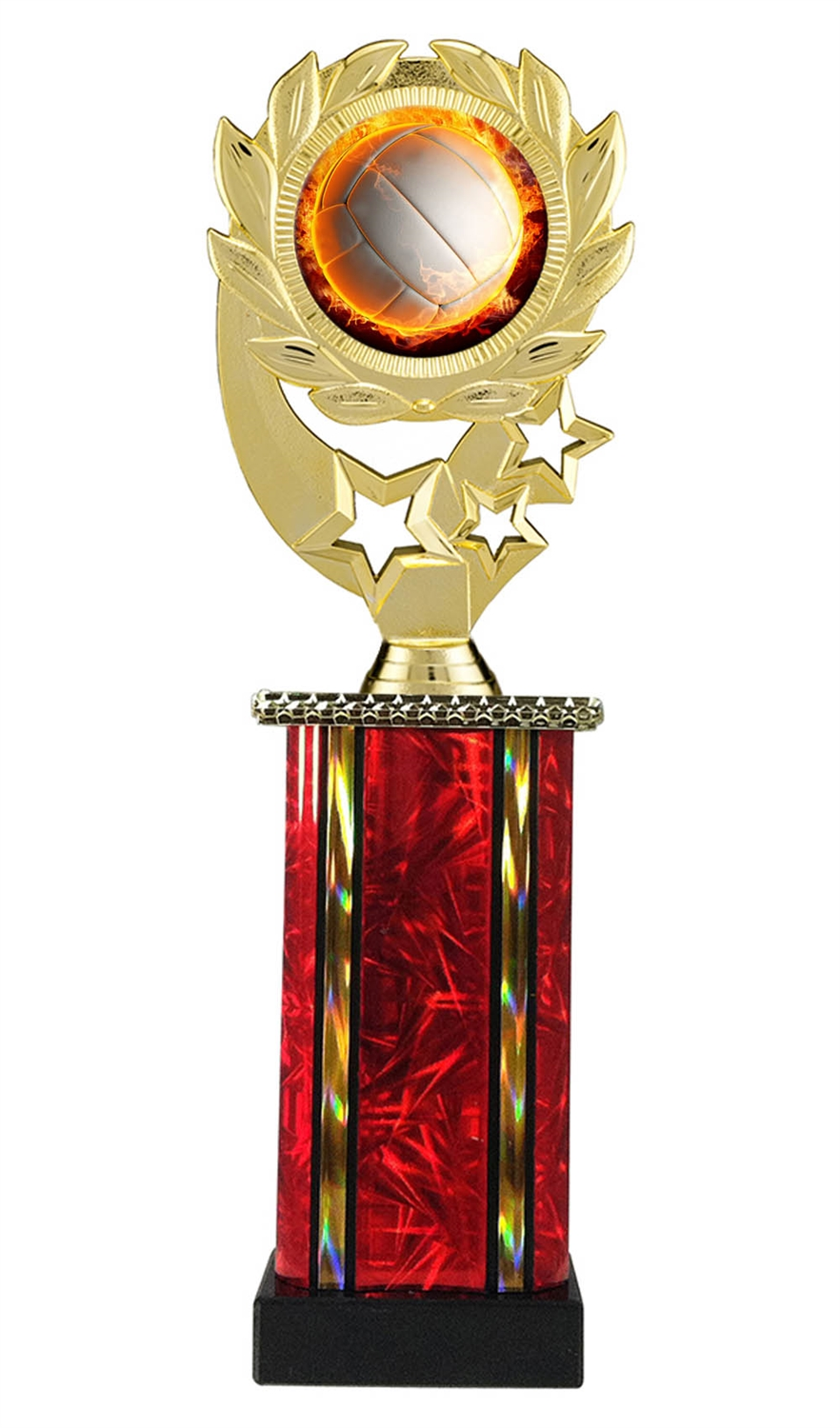 Moonbeam Wreath MLM Volleyball Trophy in 11 Colors - in 3 Sizes