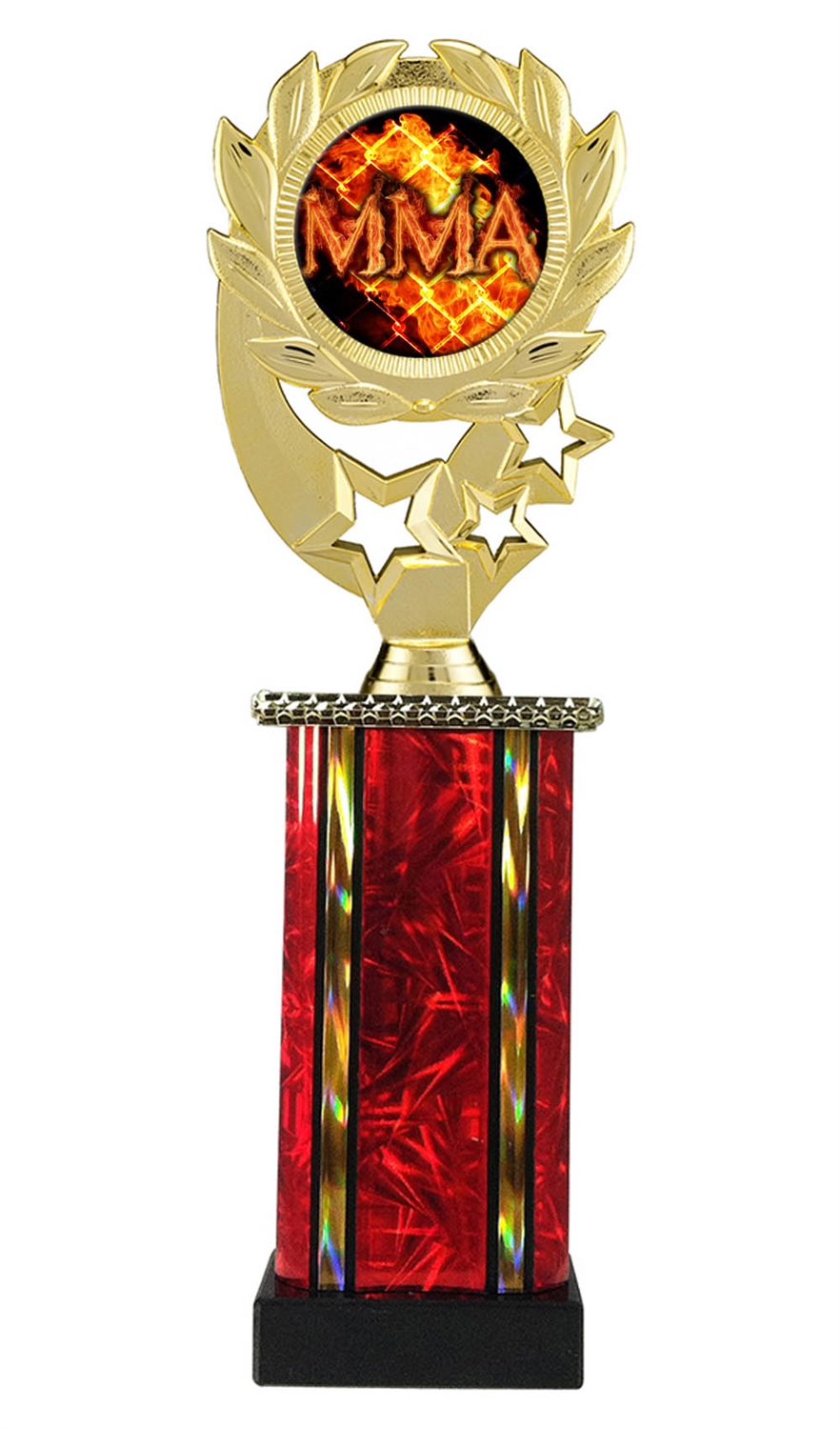 Moonbeam Wreath MLM MMA Trophy in 11 Colors - in 3 Sizes