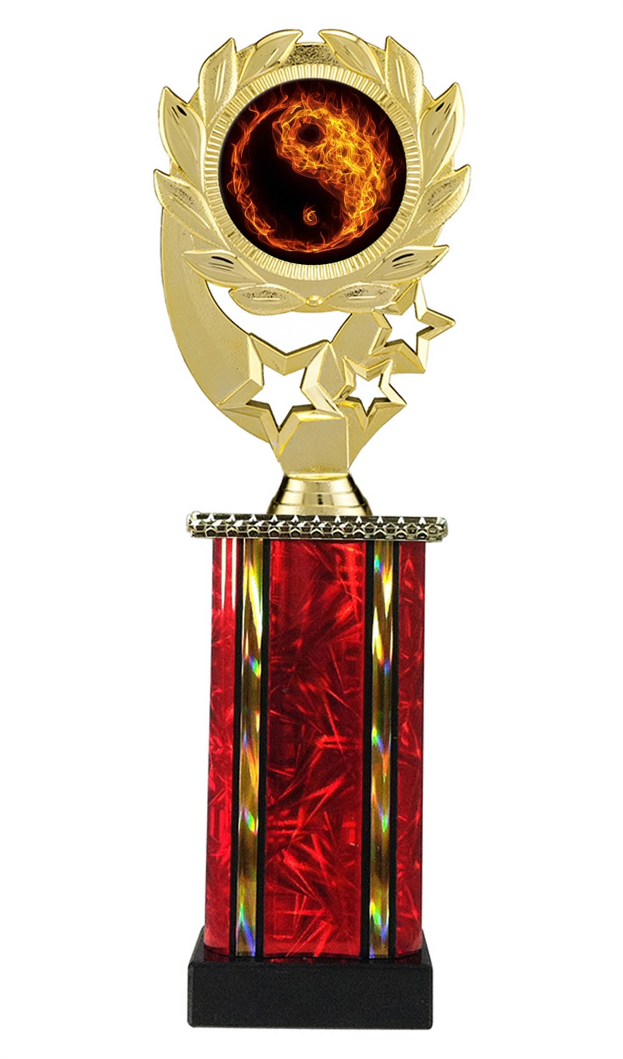 Moonbeam Wreath MLM Martial Arts Trophy in 11 Colors - in 3 Sizes